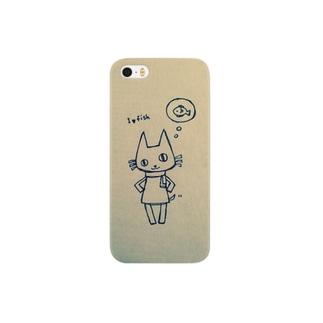 シゲキチiPhoneケース(魚の事しか考えてないver) Smartphone cases
