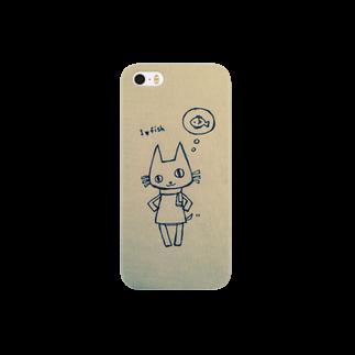 ヤノシュのシゲキチiPhoneケース(魚の事しか考えてないver) スマートフォンケース