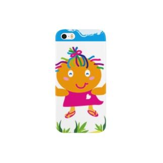 """クレコちゃんのピンクのビーチサンダル(^^)/"""" Smartphone cases"""