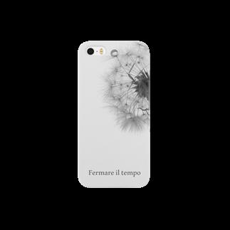 まゆにゃんΣ[【◎】]ω・´)のFermare il tempo【モノトーン】 Smartphone cases
