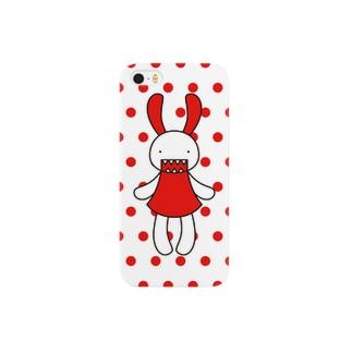 赤 スマートフォンケース