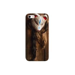 吊し狐面 Smartphone cases