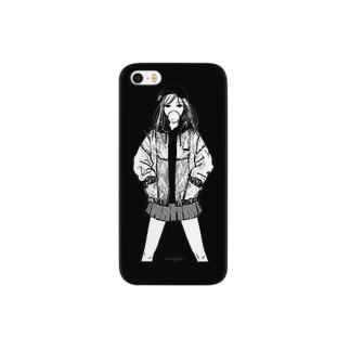 仁王立ガム女 Smartphone cases