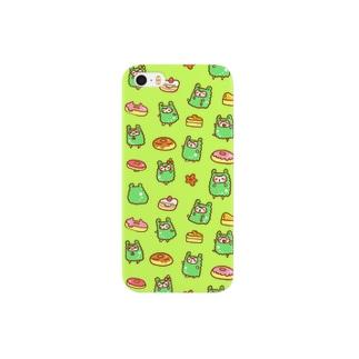 アルパカさんスイーツ緑 Smartphone cases