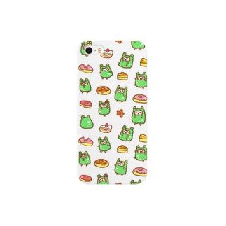 アルパカさんスイーツ白 Smartphone cases