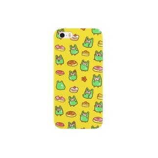 アルパカさんスイーツ黄 Smartphone cases