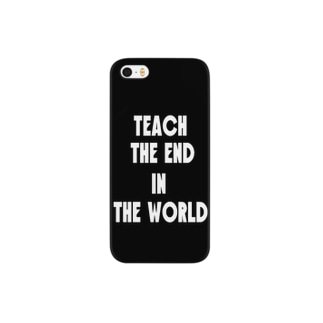 teach the end in the world(ブラック) Smartphone cases