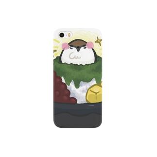 和すずめ-かき氷- Smartphone cases