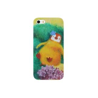 ライラックの猫とペンギン Smartphone cases
