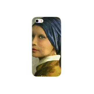 青いターバンの中西 スマートフォンケース