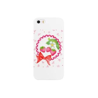 花の小窓 いちご Smartphone cases