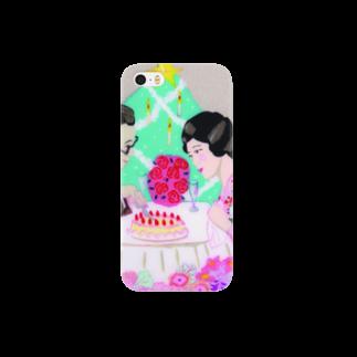 山口珠瑛のレトロジャパニーズカップル Smartphone cases
