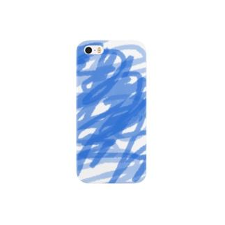 RAKUGAKI★001_あお Smartphone cases