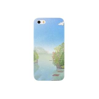 夏の舞根湾 Smartphone cases