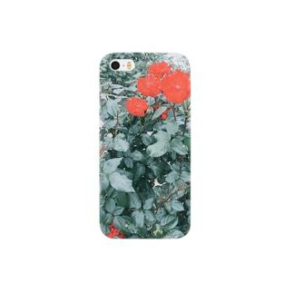 赤い花 Smartphone cases