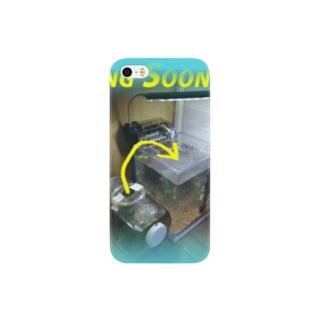 カミングスーン★水槽チェンジ_001 バケーションブルー Smartphone cases