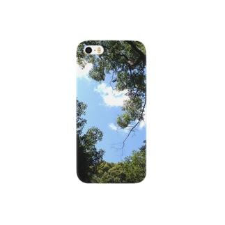 空と木々。 Smartphone cases