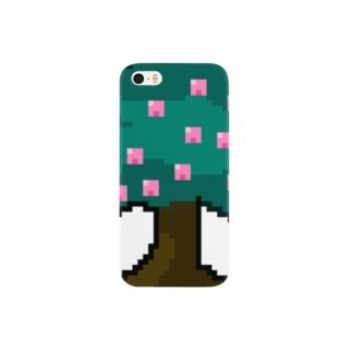 桃の木アイコン Smartphone cases