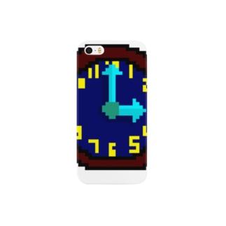 時計アイコン(文字盤付) Smartphone cases