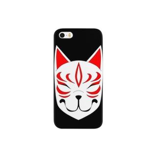 にんまり狐面 Smartphone cases