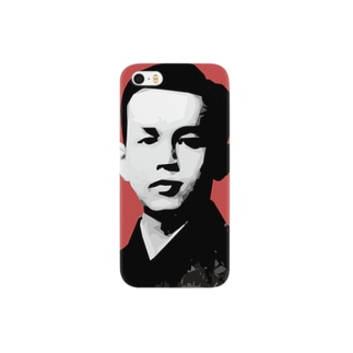 文豪・啄木くん Smartphone cases