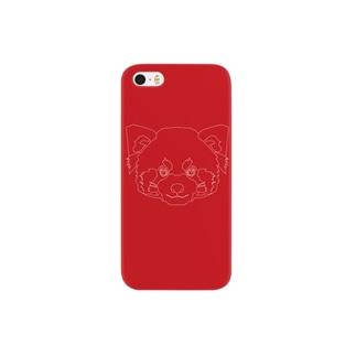 レッサーパンダ(破線) Smartphone cases
