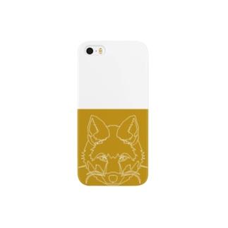 キツネ(破線) Smartphone cases