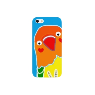 ボタンインコ@ピース! Smartphone cases