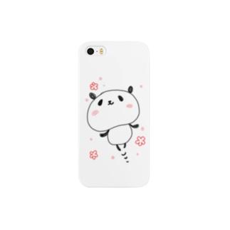 ぽよぽよパンダ お花 Smartphone cases