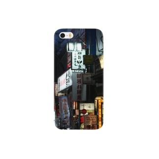 夜の裏路地 Smartphone cases