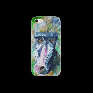 Un Petit Zooのマンドリル Smartphone cases