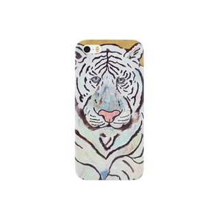 Un Petit Zooのホワイトタイガー Smartphone cases