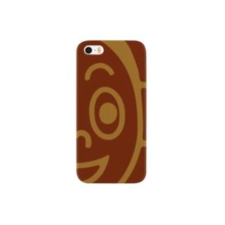 よなみねくん(brown) Smartphone cases