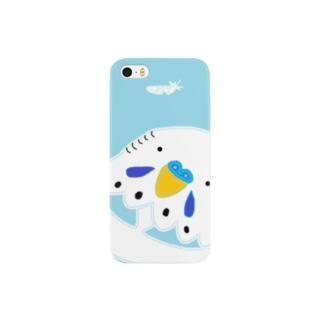 セキセイインコと羽 Smartphone cases