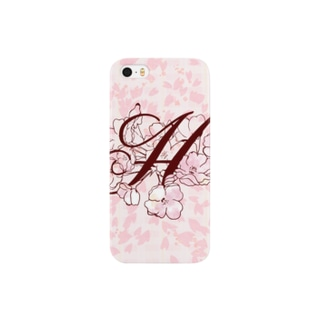 """sakura-H-iphone"" Decorative alphabetシリーズ""sakura--iphone"" Decorative alphabetシリーズ スマートフォンケース"