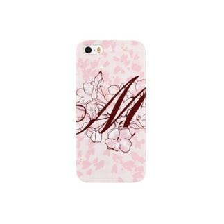 """""""sakura-M-iphone"""" Decorative alphabetシリーズ Smartphone cases"""