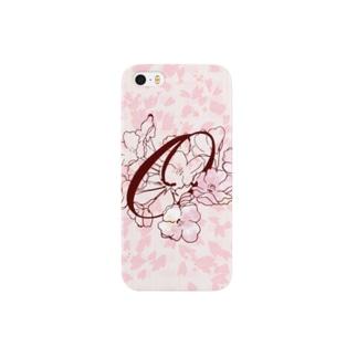 """sakura-O-iphone"" Decorative alphabetシリーズ Smartphone cases"