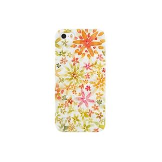 水彩の花 Smartphone cases
