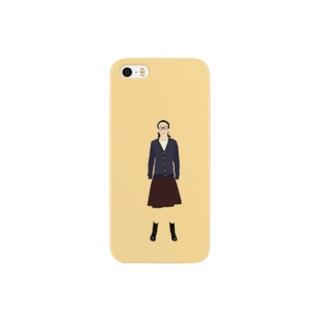asako_01_brownskirt Smartphone cases