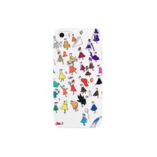 チャモロの大集合ケース Smartphone cases