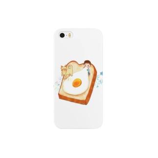 犬と赤ちゃんと食パン Smartphone cases
