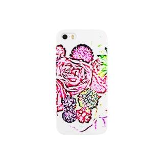 ベリーと薔薇のハート  Smartphone cases