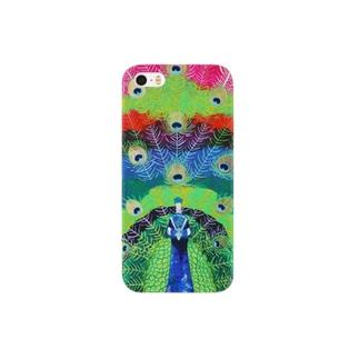 クジャクの羽 Smartphone cases