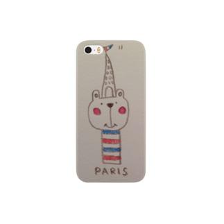 PARISくまさんのけいたいケース Smartphone cases