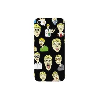 かたことジョージ(black) Smartphone cases