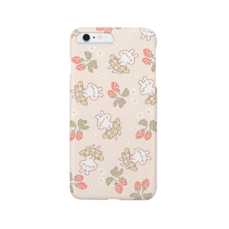 *momochy shop*のいちごとうさぎ Smartphone cases