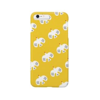 whitebirdいっぱいイエロー Smartphone cases