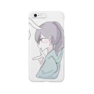ラムネのラムちゃん white Smartphone cases