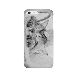 「羽を休めて」―寝るのも仕事だもん― Smartphone cases