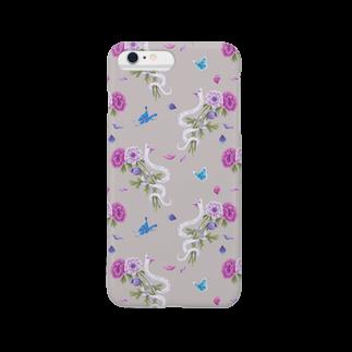 Fanfleecyのanemone(beige) Smartphone cases